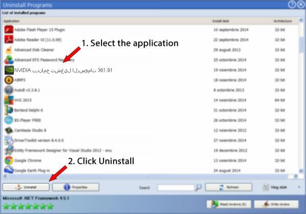 Uninstall NVIDIA برنامج تشغيل الرسومات 361.91