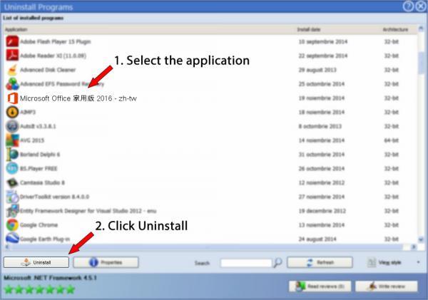 Uninstall Microsoft Office 家用版 2016 - zh-tw