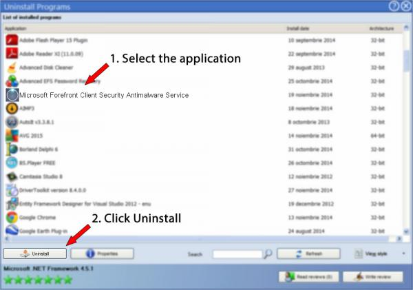 Uninstall Microsoft Forefront Client Security Antimalware Service