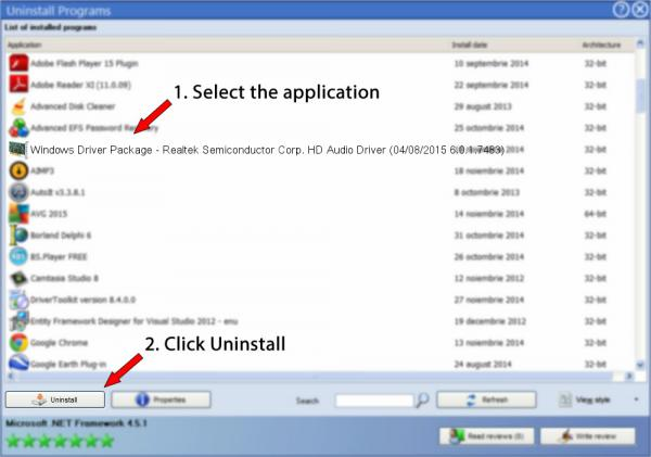 Uninstall Windows Driver Package - Realtek Semiconductor Corp. HD Audio Driver (04/08/2015 6.0.1.7483)