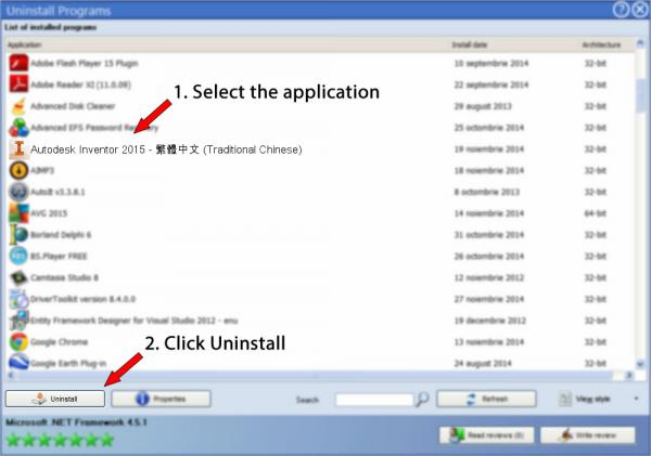 Uninstall Autodesk Inventor 2015 - 繁體中文 (Traditional Chinese)