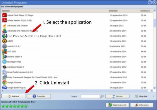 Uninstall Plus Pack per Acronis True Image Home 2011