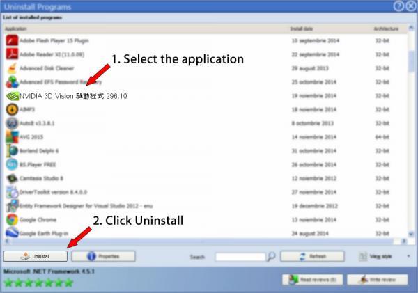 Uninstall NVIDIA 3D Vision 驅動程式 296.10