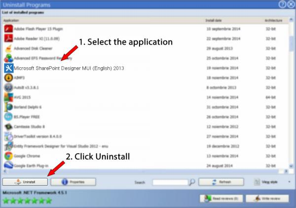 Uninstall Microsoft SharePoint Designer MUI (English) 2013