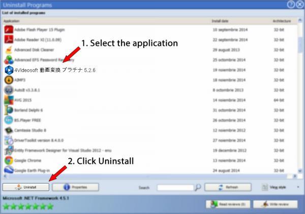 Uninstall 4Videosoft 動画変換 プラチナ 5.2.6