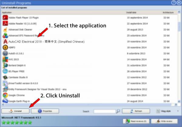 Uninstall AutoCAD Electrical 2018 - 简体中文 (Simplified Chinese)