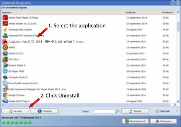 Uninstall Autodesk AutoCAD 2014 - 简体中文 (Simplified Chinese)