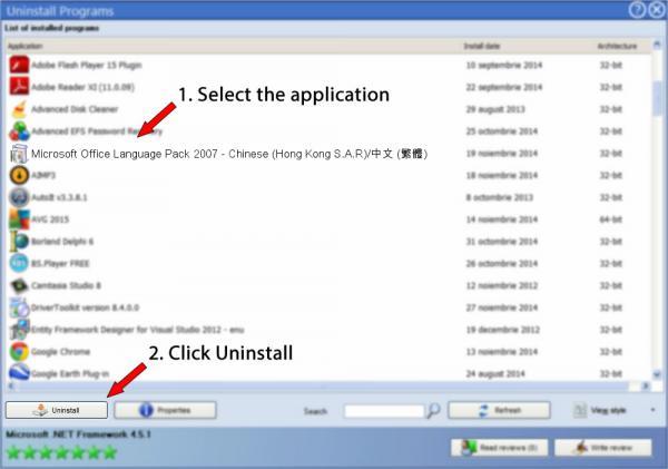 Uninstall Microsoft Office Language Pack 2007 - Chinese (Hong Kong S.A.R)/中文 (繁體)