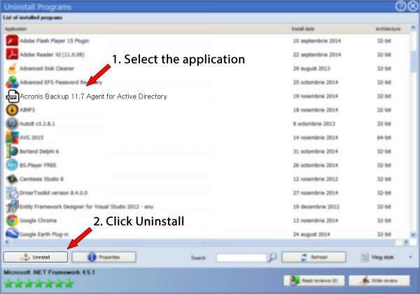 Uninstall Acronis Backup 11.7 Agent for Active Directory