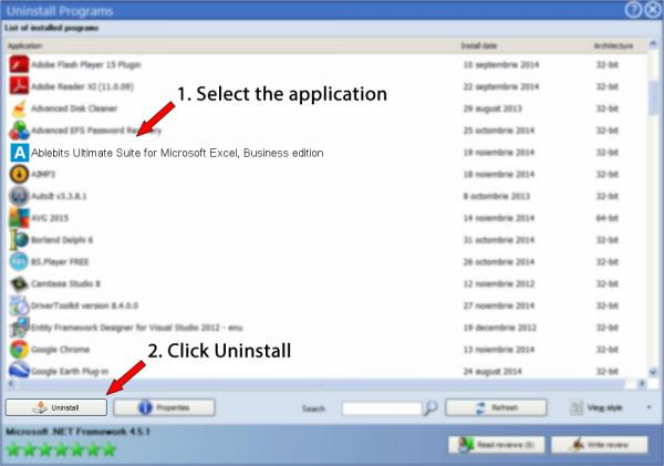 Uninstall Ablebits Ultimate Suite for Microsoft Excel, Business edition