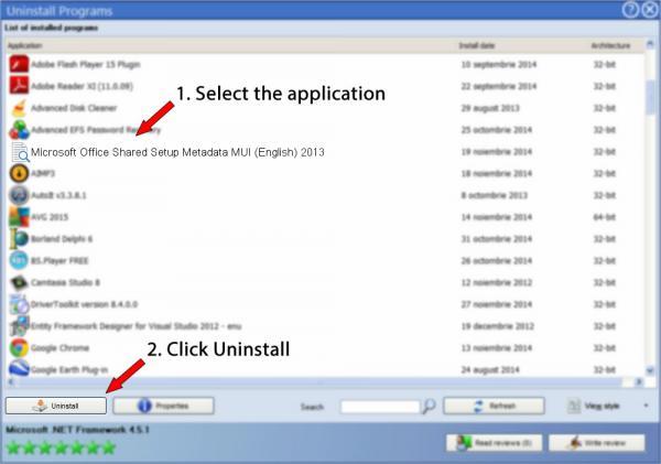 Uninstall Microsoft Office Shared Setup Metadata MUI (English) 2013