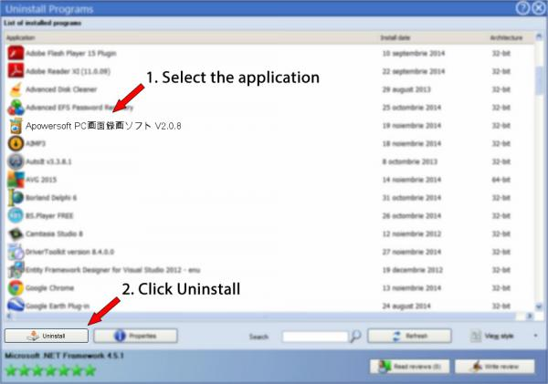 Uninstall Apowersoft PC画面録画ソフト V2.0.8